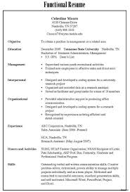 Types Resumes Best Type Of Resume Resume Samples