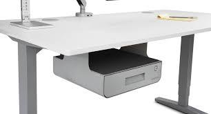 Office desk with shelf Rustic Farmhouse Sleek Storage Solution For The Modern Office Is Here Uplift Desk Locking Under Desk Drawer With Shelf Uplift Desk