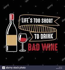 La Vie Est Trop Courte Du Vin Et De Dire Citation Drôle Vecteurs Et