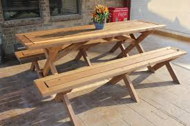 Free Picnic Table Designs Sleek Picnic Table With Detached Benches 6 Steps With