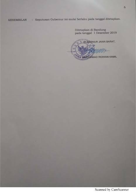 Hasil gambar untuk K Gubernur Jabar No 561/Kep.983-Yanbangsos/2019 tentang UMK 2020
