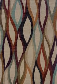 ivory transitional synthetics ikat abstract diamonds area rug
