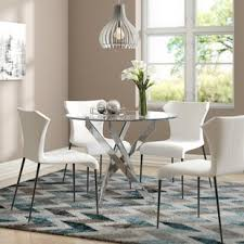 Frosted glass dining table Expandable Raquel Glass Dining Table Wayfair Frosted Glass Dining Table Wayfaircouk