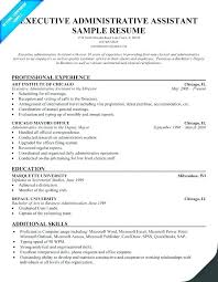 Resumes For Administrative Assistants