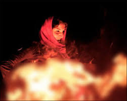 Image result for woman fire herself