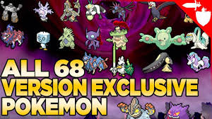 ALL 68 Version Exclusive Pokemon in Pokemon Sword and Shield - YouTube