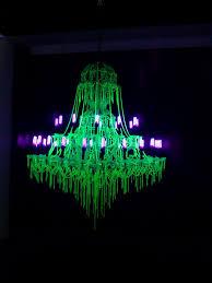 creepy glow in the dark black light chandelier i think it was to chernobyl