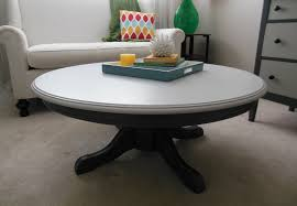 image of stylish round pedestal coffee table