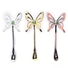 2019 Long Handle Dessert Cute Butterfly Shapes Flatware Honey Dipper Ice Cream Coffee Spoon From Almondor 22 05 Dhgate Com