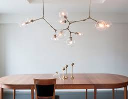 lighting globes glass. custom 10globe branching chandelier in vintage brass with clear glass globes lindsey adelman lighting l