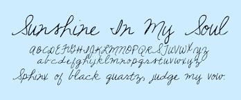 Handwritten Cursive Fonts Kimberly Geswein Fonts