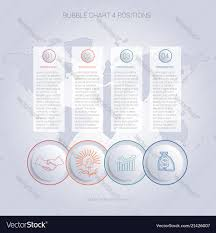 Infographics Color Bubble Chart Template For 4