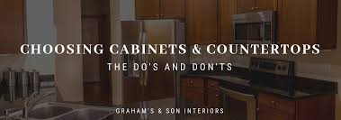 Choosing Kitchen Cabinets And Countertops The Dos Donts