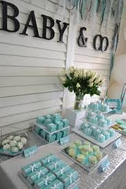 Baby And Co Baby Shower Dessert Table Ideas  Baby Shower Tiffany Tiffany And Co Themed Baby Shower