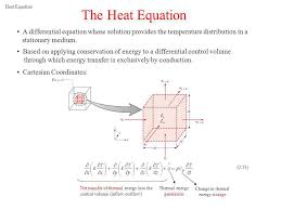 fourier s law and the heat equation ppt