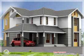 Sloping Roof Design Ideas Bedroom Sloping Roof House Kerala Home Design House Plans