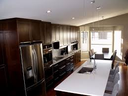 One Wall Kitchens Great One Wall Kitchen Designs With An Island Railing Stairs And