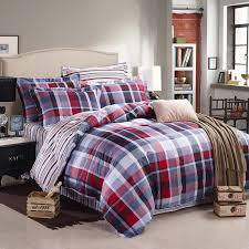 image of modern plaid duvet covers