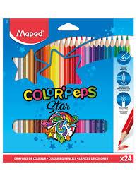 <b>Карандаши цветные</b> COLOR'PEPS треугольные, ударопрочный ...