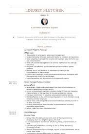 Assistant Property Manager Resume Samples Visualcv Resume Samples