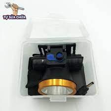 Đèn pin đội đầu 1 đèn led siêu sáng 2 chế độ 30W có sạc Victory Smiles  chống nước - Đèn pin