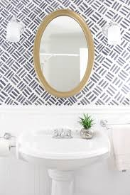 full bathrooms. Small Bathroom Makeover {The Full Before \u0026 After} With Free Handed Wallpaper Look Paint. Bathrooms