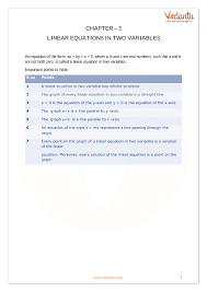 cbse class 10 maths chapter 3 pair of linear equations in two variables formula