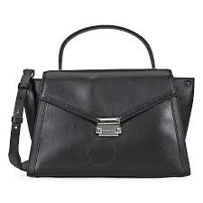 michael kors whitney large leather satchel black