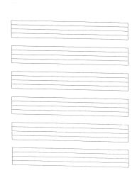 Print At 150 Staff Paper Miss Jacobsons Music Manuscript