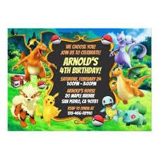 Pokemon Birthday Invitation Birthday Cards Invitations Party Diy