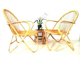 Mid Century Wicker Chair Bamboo Chairs Pair Style Vintage Rattan Dining Medium Modern Furniture Centur