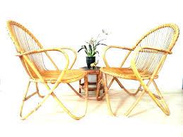 Mid Century Wicker Chair Bamboo Chairs Pair Style Vintage Rattan Dining Medium Modern Furniture Centur