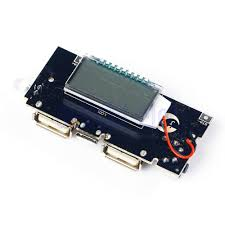 dual usb 5v 1a 2 1a mobile power bank 18650 battery charger pcb lcd phone diy