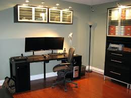 home office desktop pc 2015. Home Office Desktop Pc 2015. Amusing Captivating Black Computer Desk Ideas With Two Mounted Monitor 2015 P