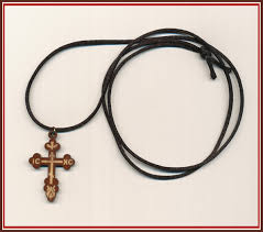 crossrope orthodox cross necklace on a rope