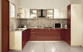 grey textured designer wall tiles with large white ceramic floor for modern kitchen ideas with u shaped cabinet design