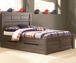 Juararo Full Size Panel Bed with Trundle   Modern look   Full bed ...