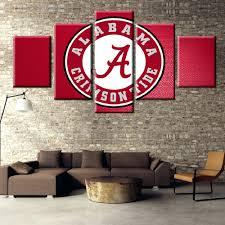 superb alabama wall decor interior designing home ideas crimson tid on wall arts alabama art crimson