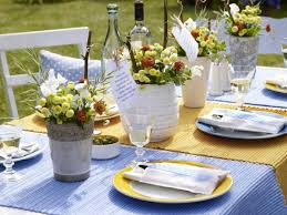 Decoration, Appealing Colorful Simple Summer Table Decorations Soft Blue  Color Ideas: Creative Ideas Homemade