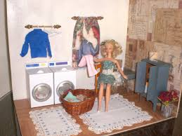 homemade barbie furniture barbie doll house laundry room complete room washing machine dryer barbie furniture for dollhouse