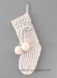 Crochet Stocking Pattern Magnificent 48 Crochet Christmas Stocking Patterns Full Of Holiday Spirit