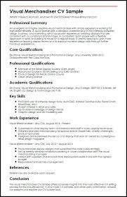 Retail Merchandiser Resume Sample Retail Visual Merchandiser Cv