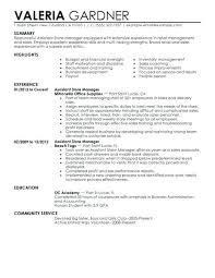 Sample Retail Management Resume Store Manager Resume Sample Summary