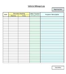 Free Mileage Log Templates Car Sheet Company Vehicle Template Rhumb Co