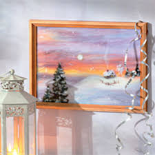 Small Picture Unique Wall Decorating Ideas Winter Landscape Wool Painting