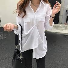 Buy ACHICOO Women <b>Solid</b> Color Shirt Thin <b>Chic Long Sleeve</b> ...