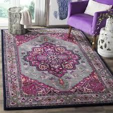 safavieh handmade bellagio boho medallion wool grey pink area rug 3 x 5