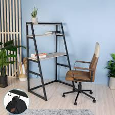 Amazonde Aingoo Leiterregal 3 Eebenen Schreibtisch Mit