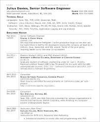 Resume Format For Experienced Software Developer Software Developer