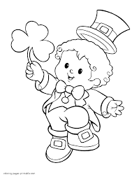 Coloring Page : Stunning Leprechaun Coloring March Crafts Kids ...